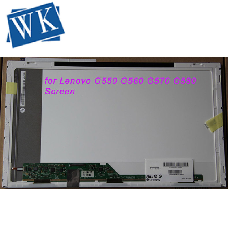 For Lenovo G550 G560 G570 G580 Screen Glossy LCD Matrix For Laptop 15.6 HD 1366*768 LED Display Replacement Panel
