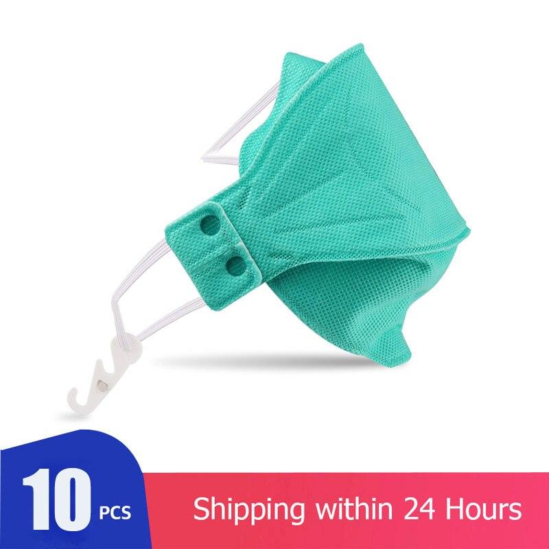 10Pcs Protective Respirator Face Mask KN95 Respirator Thick Non-Woven Fabric Face Shield Cover CE FFP3 Dust Mask Reusable