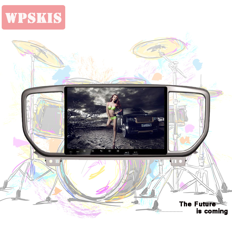 For Kia Sportage kx5 2018 2019 Car Radio Multimedia Video Player Navigation GPS Android 10.0 4+64 with rds sws bt dab <font><b>dvr</b></font> <font><b>cam</b></font> image
