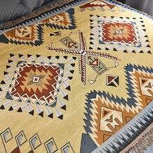 Manta geométrica India pícnic al aire libre esteras estilo étnico vintage manta hogar sofá cubiertas