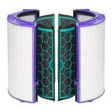 Filtro a carbone per Dyson TP04/HP04/DP04/TP05/HP05 Puro Fresco Hepa Purificatore Sigillato A Due Stadi 360 gradi Sistema di Filtraggio