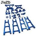 1 Set Aluminium Legierung Metall Upgrade Chassis Teile Kit Für Traxxas SLASH 4x4 1/10 RC Auto Lkw Teile zubehör W001