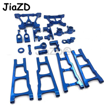 1 Set Aluminum Alloy Metal Upgrade Chassis Parts Kit For Traxxas SLASH 4x4 1/10 RC Car Truck Parts Accessories W001 henglong 3938 3938 1 russian t90 1 16 rc tank upgrade parts metal chain set driving wheel inducer free shipping