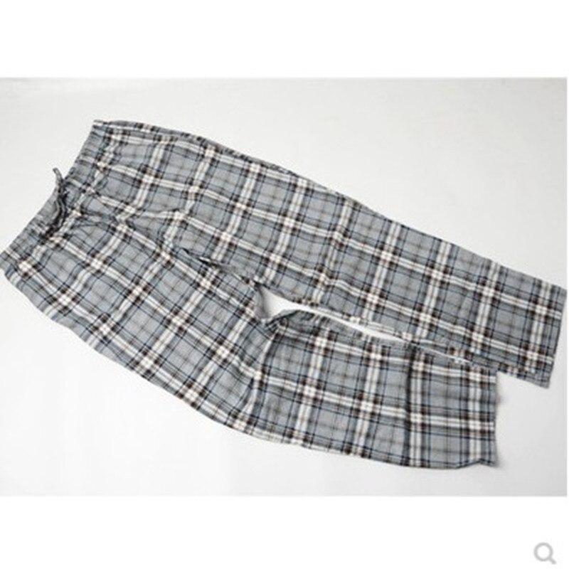 Мужские длинные хлопковые Фланелевые брюки в клетку