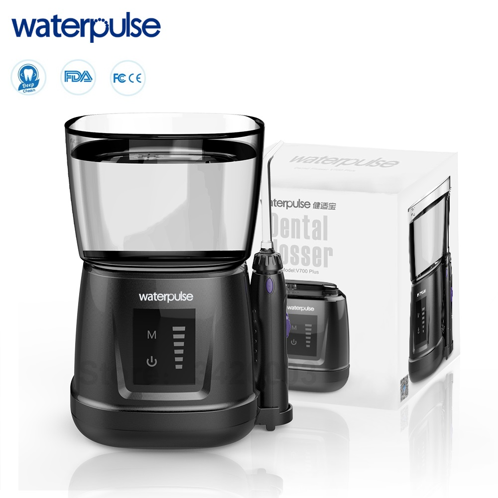 Waterpulse V700P New Water Flosser 1000ml Capacity Oral Irrigator Traveler Portable Dental Oral Flosser With 6pcs Jet Tips-in Oral Irrigators from Home Appliances