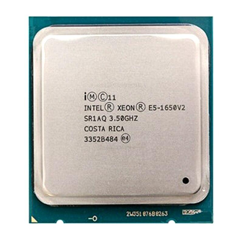 Процессор Intel Xeon E5 1650 V2 E5 1650 V2 cpu LGA 2011, серверный процессор, работающий правильно, настольный процессор E5 1650V2