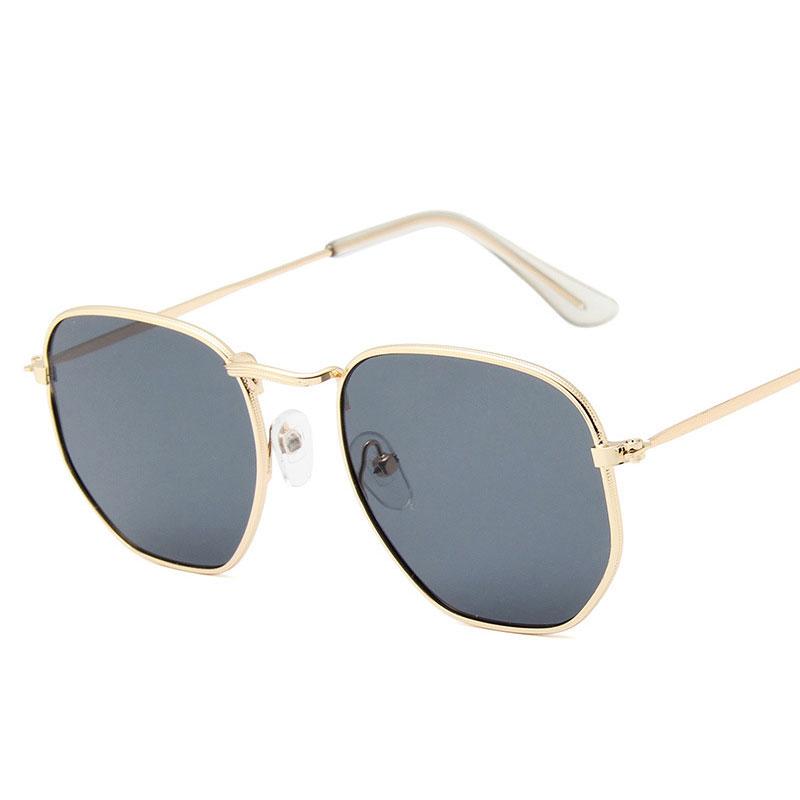 Metal Frame Polygon Women's Sunglasses Trend Small Box Colorful Mercury Ocean Film Sun Glasses Womens Sunglasses Brand Designer