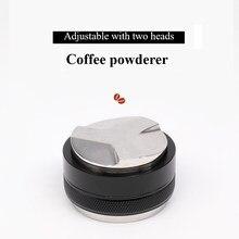 Aço inoxidável de aço inoxidável tamper de café 51mm/53mm/58mm distribuidor de café moedor de pó de café martelo personalizado café acessórios café café