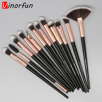 12 Pcs Makeup Brushes Set Cosmetic Tool Powder Eye Shadow Foundation Blush Blending Make Up Brush Eyebrow Brush Maquiagem