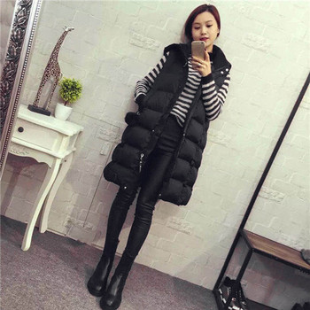 Women's Warm Vest Жилетка Женская Fashion Womens Plus Size Hoodie Waistcoat Vest Gilet Jacket Coat Outwear Жилет Женский 1