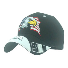 Eagle Head Embroidery Snapback Baseball Cap Trucker Hat Embroidered American Flag Logo At Front Mesh Patchwork Design At Back недорого