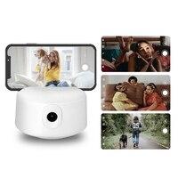 Smart Phone stabilizzatore cardanico riconoscimento facciale automatico Tracking Desk Holder treppiede PTZ rotante a 360 ° per Video Live