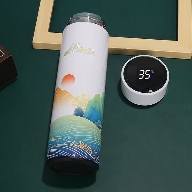 #40 Smart Water Bottle Stainless Steel Vacuum Flask Lcd Screen Temperature Display Travel Mug Thermo Bottle Gifts Thermo Cup 5