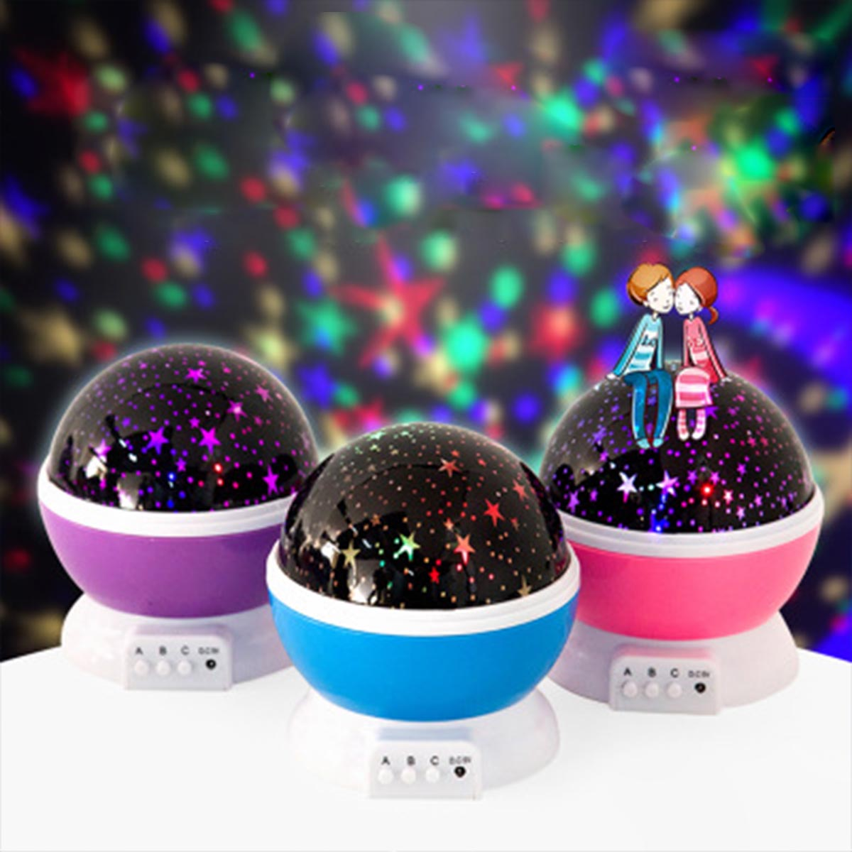 Rotating Night Light Projector Spin Starry Sky Star Master Children Kids Baby Sleep Romantic Led USB Projection Lamp