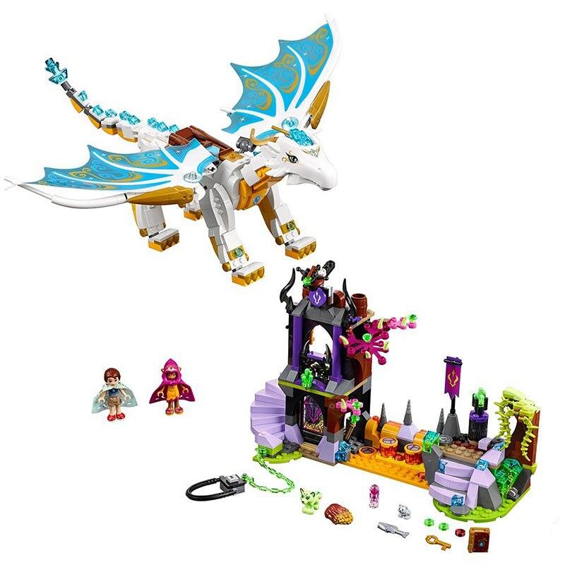 Elfos fadas muito depois de resgatar dragão meninas caber legoinglys elfos fadas amigos blocos de construção tijolos diy brinquedos 41179 presente crianças