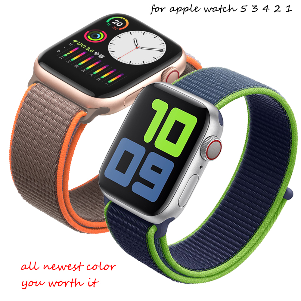 Strap For Apple Watch 5 3 Band 44mm/40mm Sport Loop Iwatch Band 42mm 38 Correa Pulseira Apple Watch 5 3 4 Nylon Band Accessories