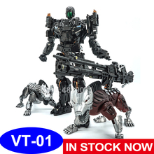 VT Action Figure Toys VT 01 VT01 Metal MP Bounty Hunter UT Confinement Two Hunting Dogs Sports Car Deformation Transformation