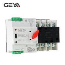 GEYA din-рейку 4P ATS Электрический переключатель ручного переключения 220 В катушка Макс 100А ПК Тип переключатель