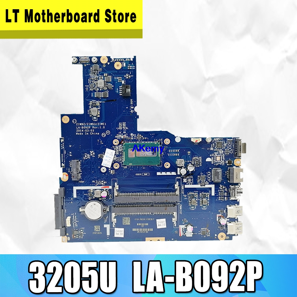 ZIWB2/ZIWB3/ZIWE1 LA-B092P Rev:3.0 Motherboard For Lenovo B50-80 Laptop Motherboard ( For Intel 3205U CPU ) 100% Tested