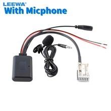 Leewa carro sem fio bluetooth módulo adaptador de rádio áudio aux cabo adaptador para volkswagen rcd210 rcd310 rns300 rns310 rcd510 mfd2