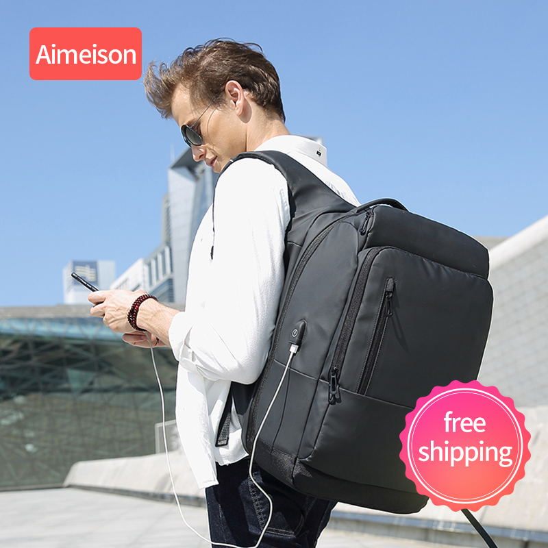 Aimeison splashproof computador portátil mochila anti roubo homens mochila de viagem adolescente mochila masculino bagpack