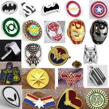New Arrival DC Comic Superhero Badge Superman Logo Brooch Movie Jewelry Sliver Plated Super Man Hero Button Pin Cufflinks