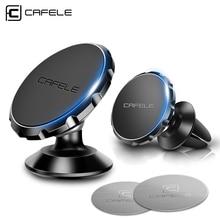 Купить с кэшбэком CAFELE original Universal Magnetic 360 Degree Rotation Phone Car GPS Holder Magnet mount Holder For iPhone Samsung Smart Phone