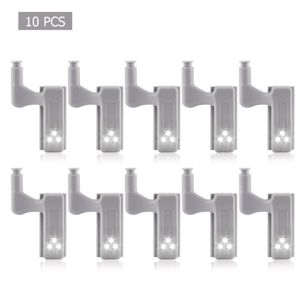 30Pcs LED Night Light Cabinet Hinge Lamp Kitchen 0.3W Cupboard Closet Wardrobe Door Inner Hinge LED Sensor