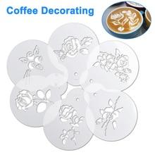 Powdered Sieve-Tools Mold Cake-Stencils Foam-Spray Cappuccino Drawing Coffee Model Sugar