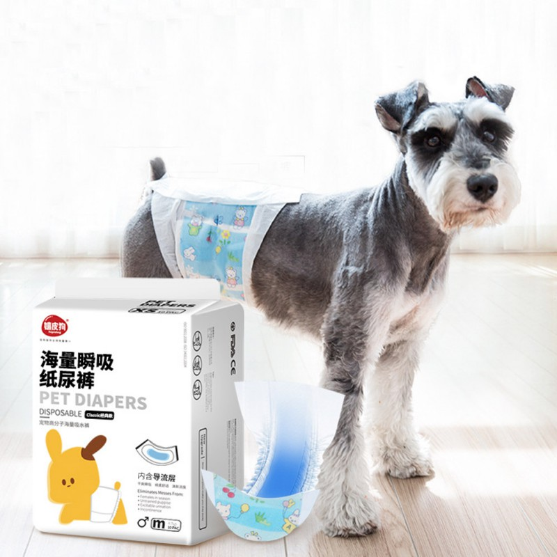 Dog Disposable Wrap Dog Shorts Doggie Diaper Durable Dog Pants Wraps For Male Dogs 3 Size S M L