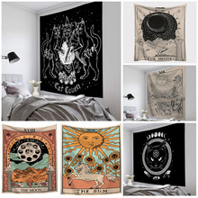 Tarot Tapestry Bed-Cover Wall-Hanging Divination Witchcraft Astrology Indian Sun-Moon