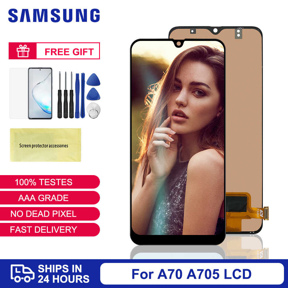 Voor Samsung A70 Display Tft Voor Samsung Galaxy A70 Lcd Touch Screen Digitizer Vergadering Voor Samsung A70 A705 SM-A705F