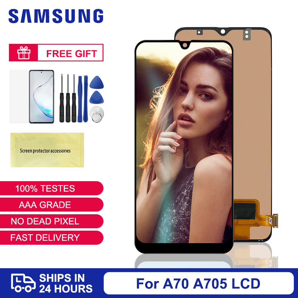 For Samsung A70 Display TFT For Samsung Galaxy A70 LCD Display Touch Screen Digitizer Assembly For Samsung A70 A705 SM-A705F