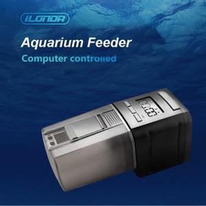 Digital LCD timing automatic fish feeder intelligent fish feed goldfish bowl feeder turtle mini feeding tank