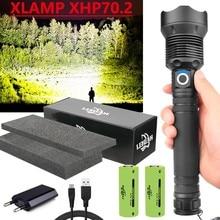 Latarka Led XHP70 latarka taktyczna Usb 18650 XHP70.2 akumulatorowa latarka Cree Xhp50 lampa robocza myśliwska