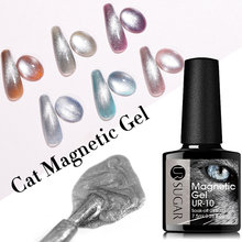 Os vernizes transparentes do polonês do gel do ur do açúcar híbridos das unhas para os olhos do gato do spar do gelo de 7.5ml embebe fora o esmalte uv do gel do verniz das unhas