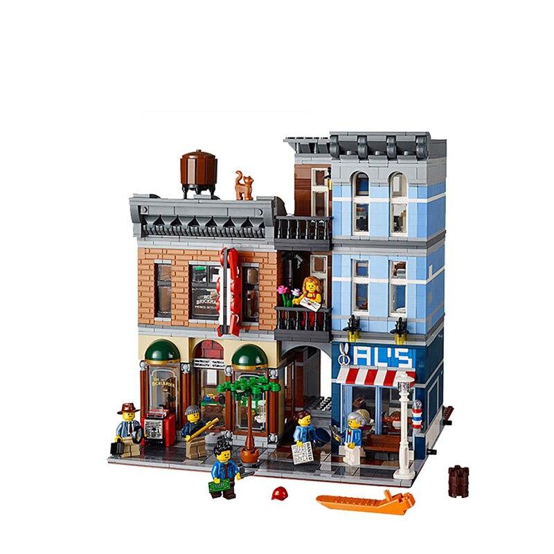 10246 совместимый с Legoinglys создатель детектива офис 15011 2262 шт уличный вид модели строительные наборы блоки кирпичи обучающие игрушки
