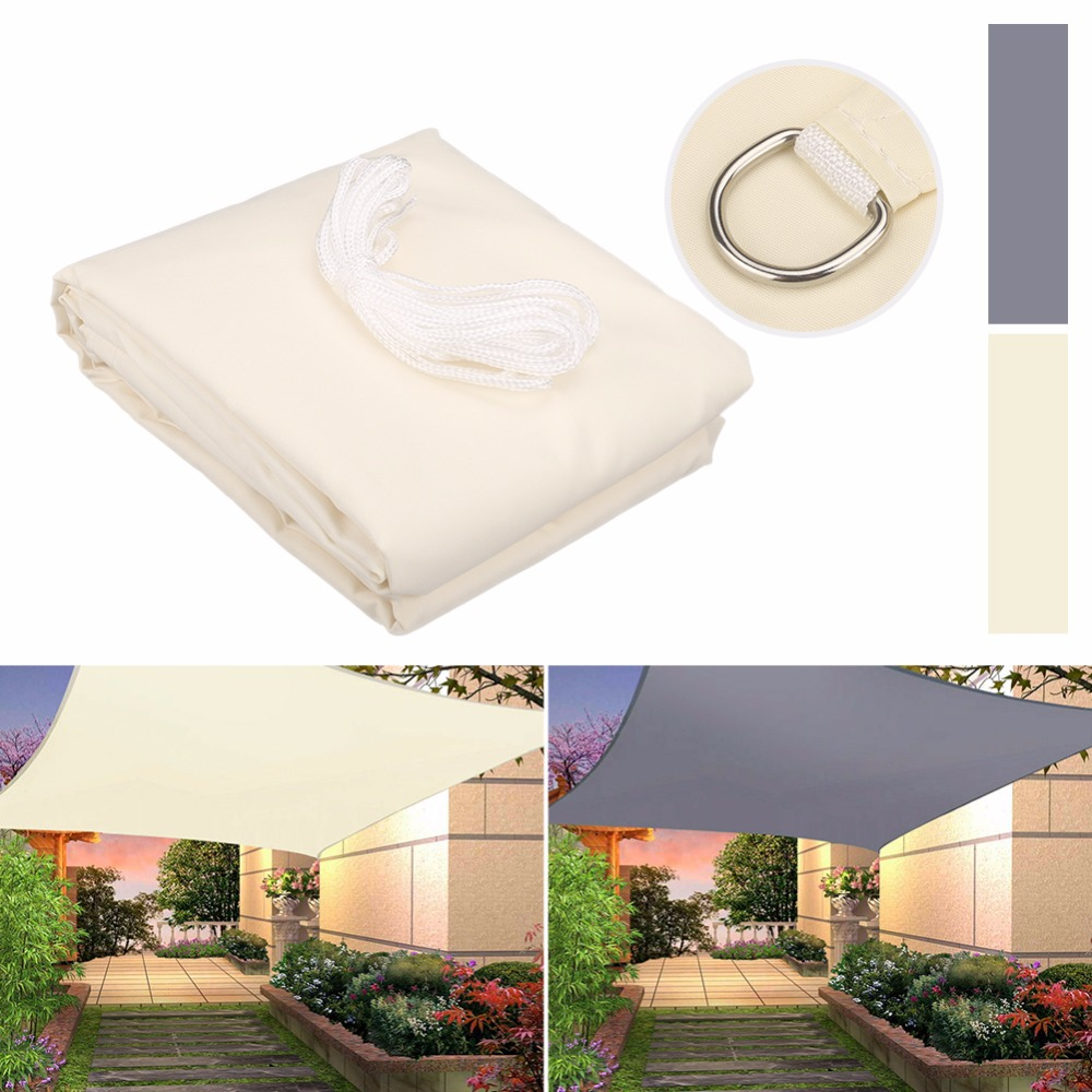 280GSM Waterproof Awning Sunshade Sun Shade Sail For Outdoor Garden Beach Camping Patio Pool Sun Canopy Tent Sun Shelter