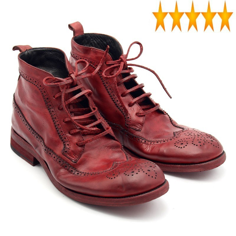 Boots Safety-Shoes Plus-Size High-Quality Mens Luxury 100%Cowhide Lace-Up Runway Handmade