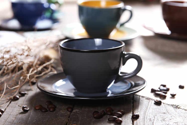 Набор из континентальной кофейной чашки в британском итальянском стиле, керамический набор для капучино, мокко, рождественский подарок, бесплатная доставка