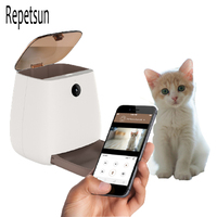Alimentador automático de gran capacidad para mascotas, dispositivo inteligente con grabadora de voz, Control por aplicación, temporizador, dispensador de comida para gatos y perros con WiFi, tazón para mascotas
