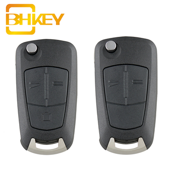 цена на BHKEY For Opel Key Shell 2/3 Buttons Remote Key Fob Case For Vauxhall Opel Astra H Corsa D Vectra C Zafira Astra Vectra Signum