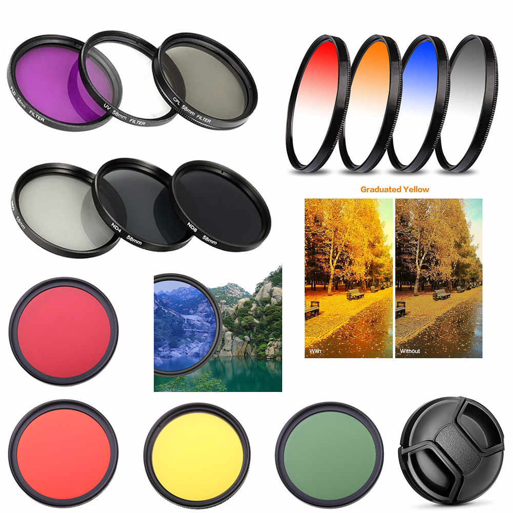 40.5Mm UV CPL FLD ND Bintang LULUS Warna Close Up Filter Cap untuk Lensa Kamera Sony Canon Nikon Panasonic fujifilm Pentax Olympus