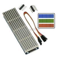 MAX7219 LED מיקרו 4 ב 1 תצוגת עם 5P קו דוט מטריקס מודול 5V מתח הפעלה עבור Arduino 8x8 דוט מטריקס נפוץ