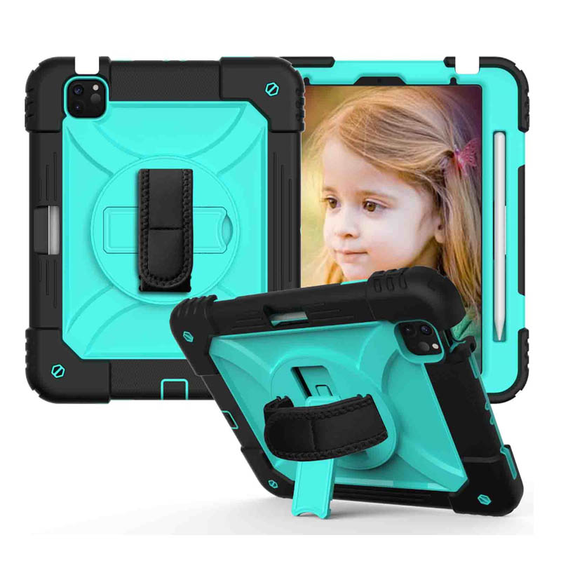 4 Green For iPad Air 4 10 9 Case 2020 Hybird 3 Layers Armor Kids Shockproof Tablet Case