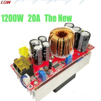 цена на 1200W 20A DC-DC Boost Converter Step Up Power Supply Module 10-60V to 12-90V adjustable voltage charger The New
