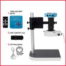 Digital Microscope Monocular Workbench-Stand Hdmi-Interface VGA Small 130X38MP