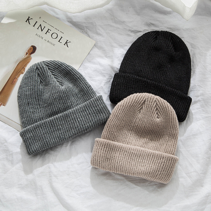 Hip Hop   Beanie   Women Winter Warm Hats Mens Knitted   Skullies   Casual Streetwear Hat 2019 Autumn Ladies Cotton   Beanies   Gorros Mujer