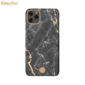 Image 5 - Original Kingxbar Zurück Fall Für iPhone 11 Pro Max Mode Jade Stein Marmor Harte Schutzhülle Fall Mit Gebaut in Metall Platte