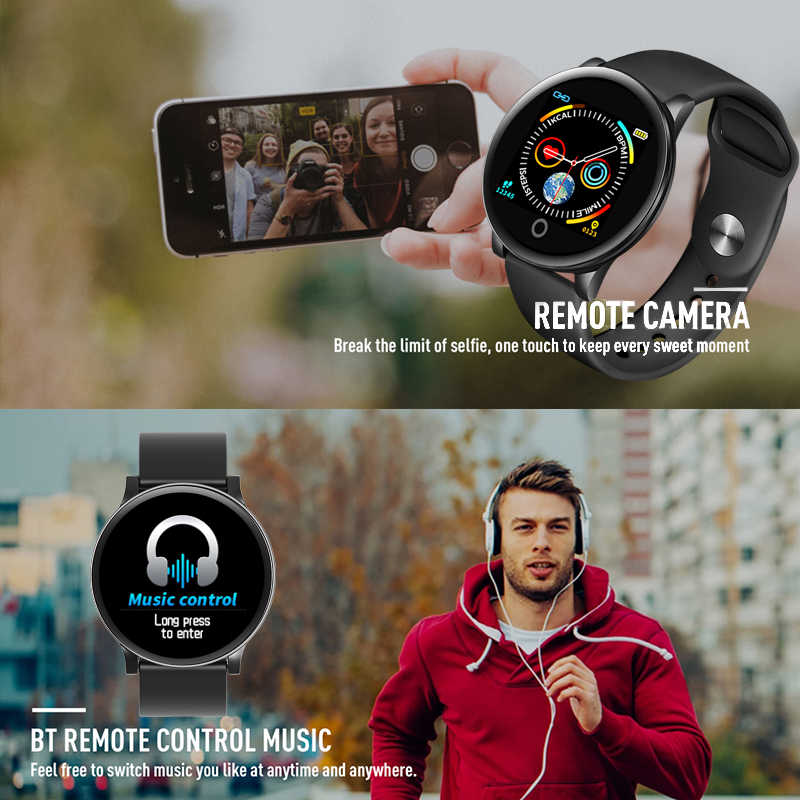 LIGE 2020 جديد ساعة ذكية الرجال النساء مقاوم للماء الرياضة Smartwatch رصد معدل ضربات القلب عرض الطقس الذكية الفرقة ل IOS أندرويد